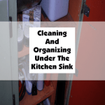 Cleaning And Organizing Under The Kitchen Sink