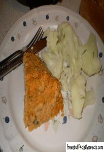 salmon loaf served