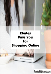 ebates pays you for shopping online