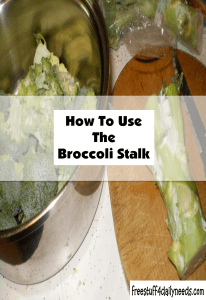 how to use the broccoli stalk