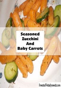 seasoned zucchini and baby carrots