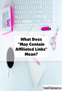 what does may contain affiliated links mean