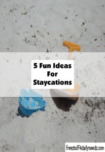 5 fun ideas for staycations