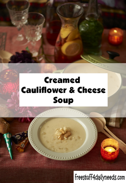 creamed cauliflower and cheese soup