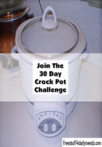 join the 30 day crock pot challenge