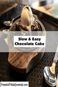 slow and easy chocolate cake