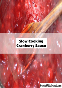 slow cooking cranberry sauce