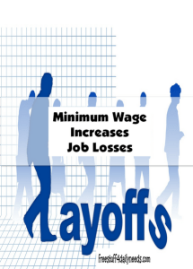 minimum wage increases job losses
