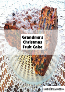 grandmas christmas fruit cake