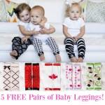 Get 5 FREE Pairs of Baby Leggings!