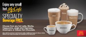 FREE McCafe Beverage at McDonalds!
