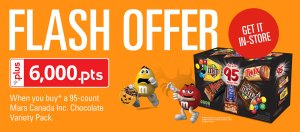 6,000 FREE PC Plus Points When You Buy Halloween Candy!