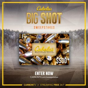 Win a $500.00 Cabela's Gift Card!