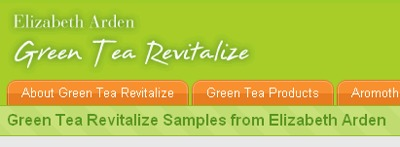 Elizabeth Arden Green Tea Revitalize Skin Care Free Samples - Worldwide
