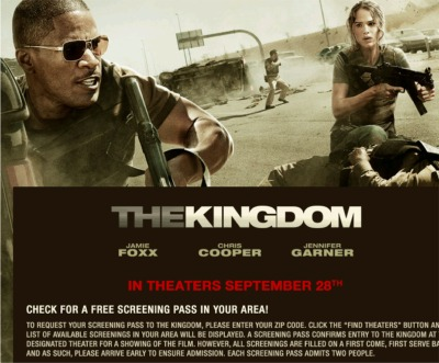 The Kingdom Movie Free Screening Pass - US