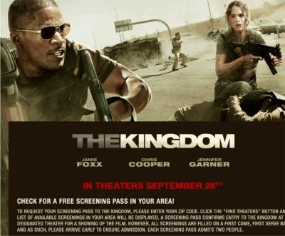 The Kingdom Movie Free Screening Pass - US