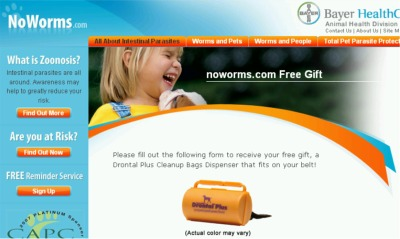 NoWorms.com Bayer HealthCare Free Drontal Plus Cleanup Bags Dispenser - US