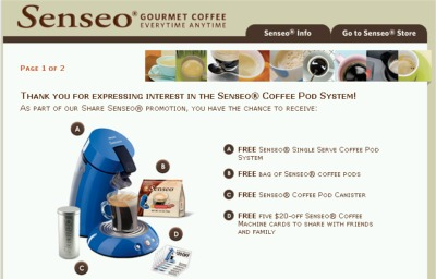 Senseo Gourmet Coffee Possible Free Senseo Single Serve Coffee Pod System, Free Senseo Coffee Pods, Canister and More - Exp Dec 31, 07, US