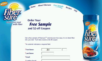 Fibersure Fiber Supplement Free Sample and $2 Off Coupon - US