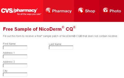 CVS/Pharmacy NicoDerm CQ Free Sample Patch - Ages 18+, US