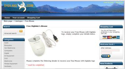 Digilake Free Computer Mouse - Australia, Canada, United Kingdom and US