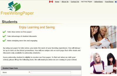 FreeWritingPaper.com Free Writing Paper for University Students - Canada