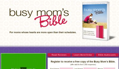 Busy Mom's Bible Free Copy - First 5,000, US