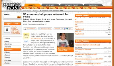 Games Radar 30 Free Commercial Computer Games - International