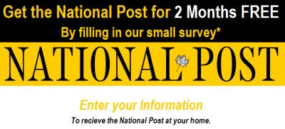 National Post Newspaper Free Subscription for 2 Months - Canada