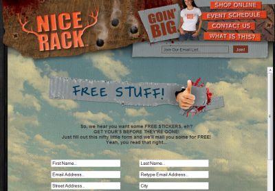 VeryNiceRack.com Free Nice Rack Stickers - US