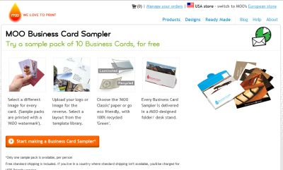 Moo Business Cards Free 10 Pack - Canada, France, Germany, Italy, Spain, UK and US