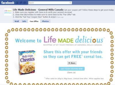 Life Made Delicious General Mills Canada Free MultiGrain Cheerios via Save.ca Coupon - Facebook Offer, Canada
