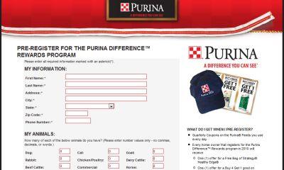 Purina Difference Reward Free Samples, Coupons, Cap, Membership Card and More - US