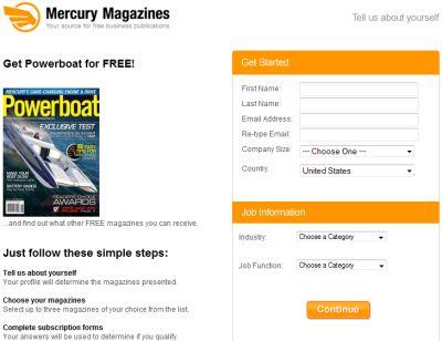 Mercury Magazines Free Powerboat Magazine Subscription - US
