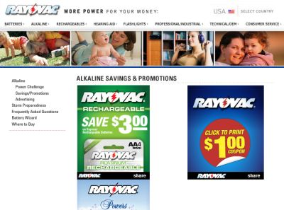 Rayovac Batteries Free Printable Coupons - US
