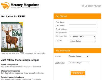 Mercury Magazines Free Latina Magazine Subscription - US