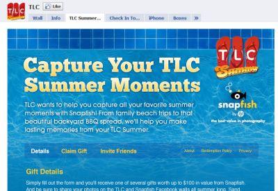 TLC Summer and HP Snapfish Win a Free Gift via Facebook - US