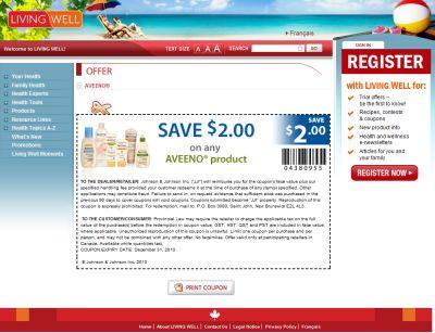Aveeno Skin Care Save $2 Printable Coupon - Exp. December 31, 2010, Canada