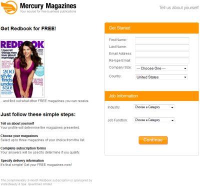 Mercury Magazines Free Redbook Magazine - US