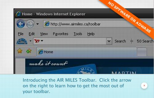 Air Miles Toolbar Earn up to 30 Free Reward Miles Each Month - Canada