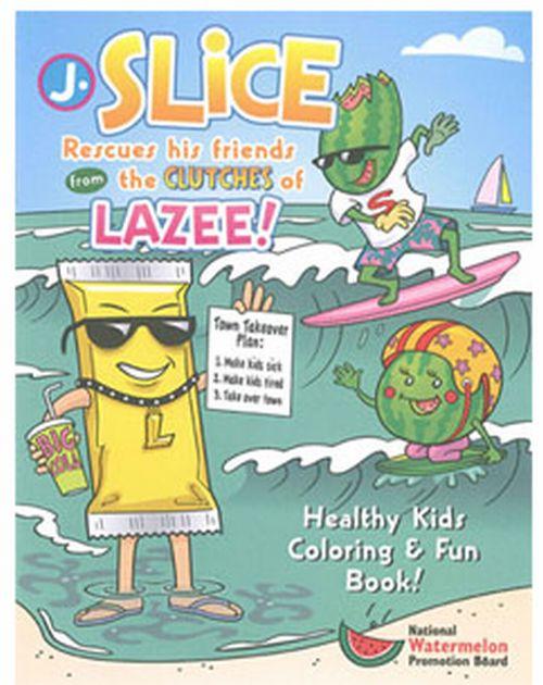 Watermelon.org Free J. Slice Downloadable Coloring Books for Children - International