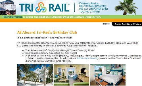 Tri-Rail's Birthday Club Free