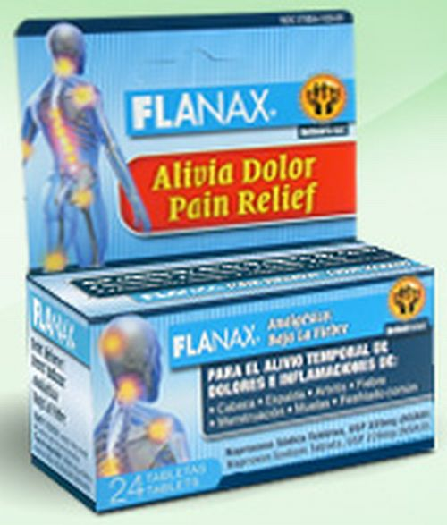 Flanax Pain Reliever Tablets Free Sample - Ages 18+, US