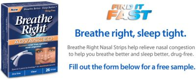 Free Sample of Breathe Right Advanced Nasal Strips from Walmart
