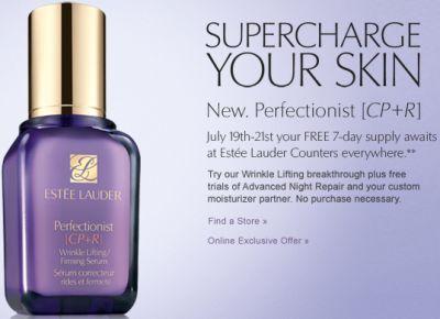EsteeLauder.com Free Sample of 7-Day Supply of Estée Lauder Perfectionist CP+R Serum at Estee Lauder Counters - July 19-21, 2012