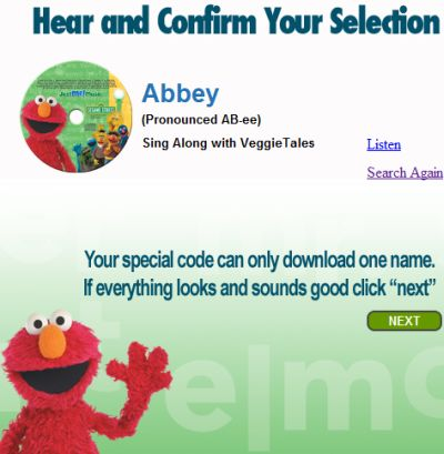 Free Personalized Elmo Song Download for Your Child from JustMe! Music