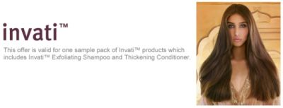 Aveda.com Free Printable Coupon for Free Sample Pack of Invati Products, Includes Invati Exfoliating Shampoo and Thickening Conditioner - Exp. August 31, 2012