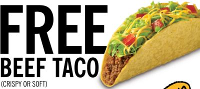 Taco Bueno Printable Coupon for Free Beef Taco on October 4, 2012