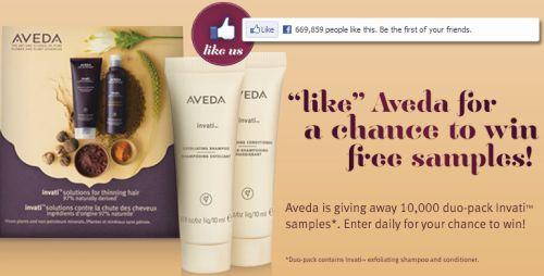 Aveda Invati Duo-Pack Free Sample via Facebook - US