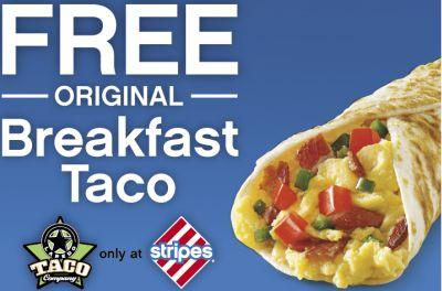 Stripes Stores Free Printable Coupon for Free Original Breakfast Taco - December 24-25, 2012